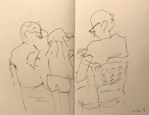 Sketch: Pen and Ink - Three Generations