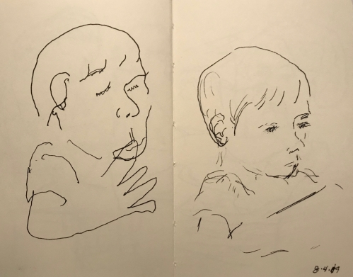 Sketch: Pen and Ink - Blind and Refined Drawings - Same Subject