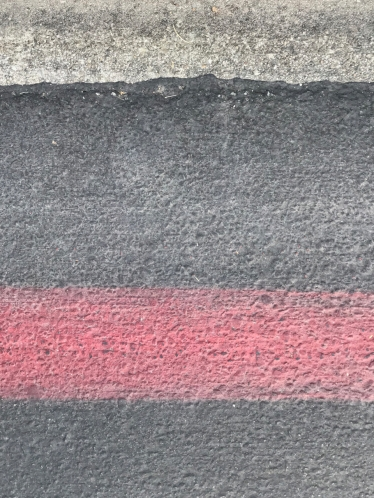 Photography: Street Photography - Bumpless Curb and Red Line