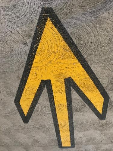 Photography: Street Photography - Cartoony Arrow on Swirly Concrete (No Faces)