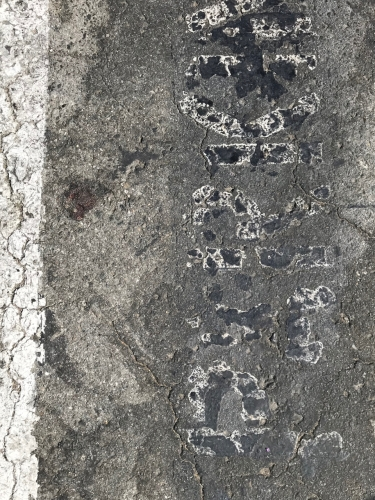 Photography: Street Photography - Failed Attempt at Erasing Parking Lot Instructions