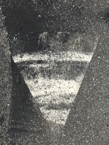 Photography: Street Photography - Half-Eroded Arrow or, Parking Lot Ultrasound