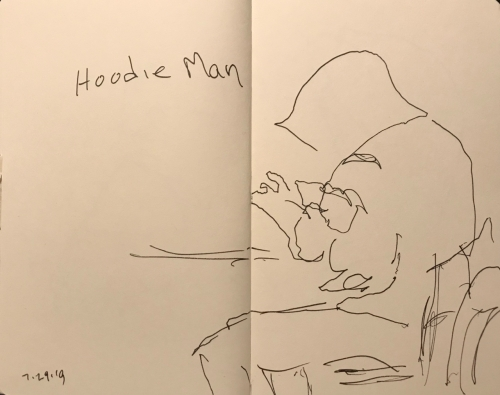 Sketch: Pen and Ink - Hoodie Man