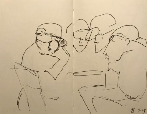 Sketch: Pen and Ink - Hush Hush Conversation