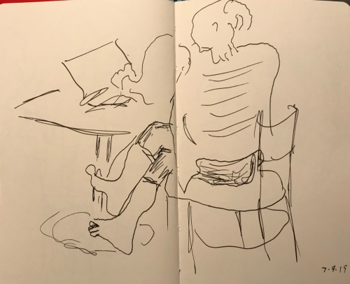 Sketch: Pen and Ink - Legs and Arm