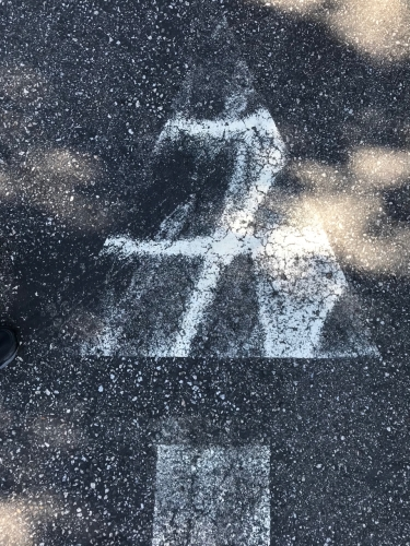 Photography: Street Photography - Lucky 7 Parking Lot Arrow