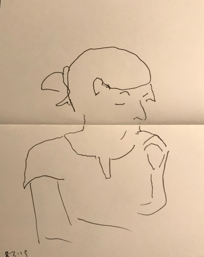 Sketch: Pen and Ink - Portrait in Three Quarters