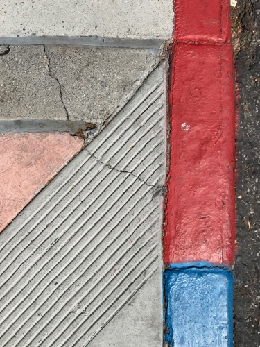 Photography: Street Photography - Red Cracked and Blue