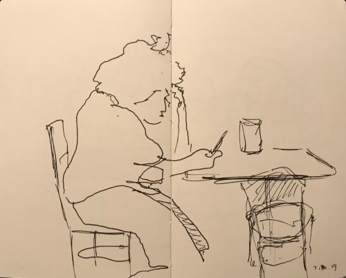 Sketch: Pen and Ink - Unruly Hair is Not the Problem