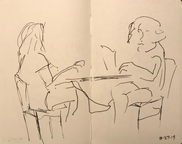 Sketch: Pen and Ink - Double Take