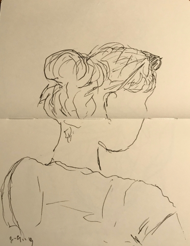 Sketch: Pen and Ink - Profile, From Behind
