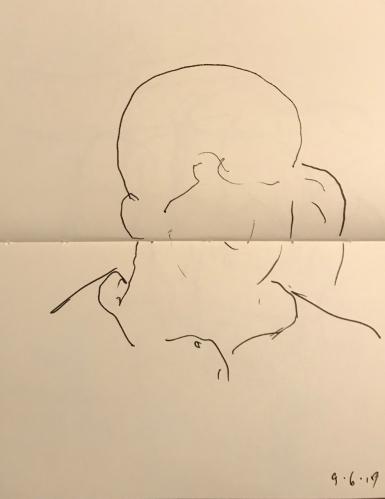 Sketch: Pen and Ink - Unfinished Portrait