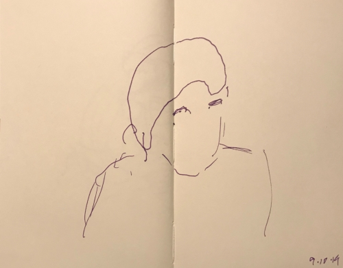 Sketch: Pen and Ink - Wait for the Voice to Reveal the Person