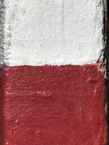 Photography: Street Photography - White and Red Curb