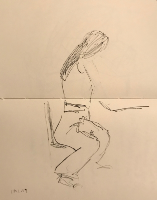 Sketch: Pen and Ink - Hair in Proportion to the Rest