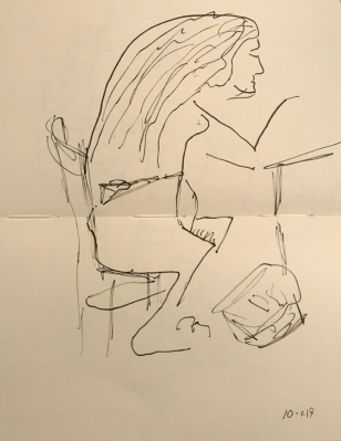Sketch: Pen and Ink - Hair Takes the Stage