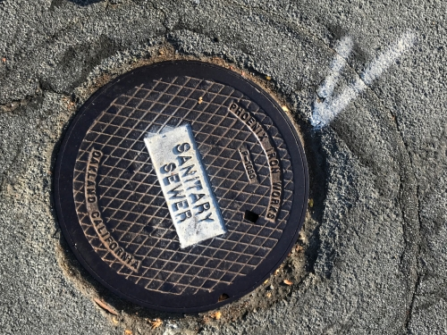 Photography: Street Photography - Sanitary Sewer, Check