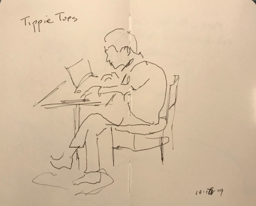 Sketch: Pen and Ink - Tippie Toes