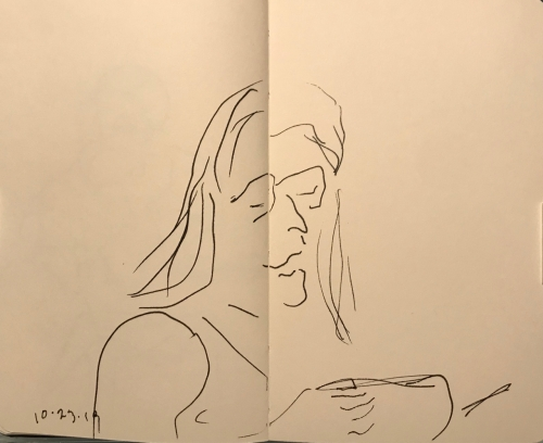 Sketch: Pen and Ink - Where's My Phone?
