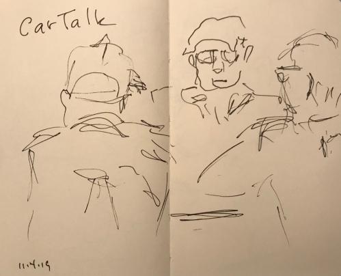 Sketch: Pen and Ink - Car Talk