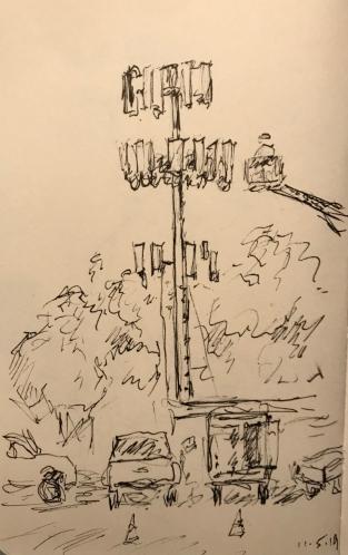 Sketch: Pen and Ink - Cell Tower