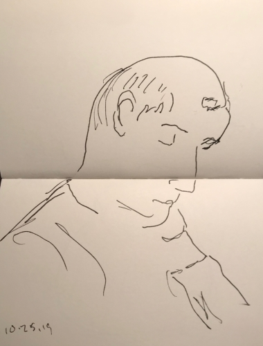 Sketch: Pen and Ink - Forty Winks