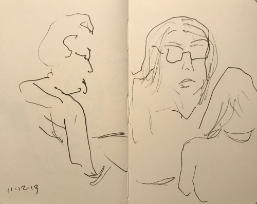 Sketch: Pen and Ink - High Pressure Interview
