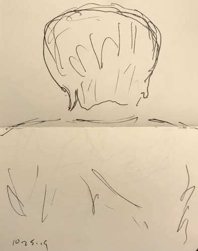 Sketch: Pen and Ink - Portrait from Behind