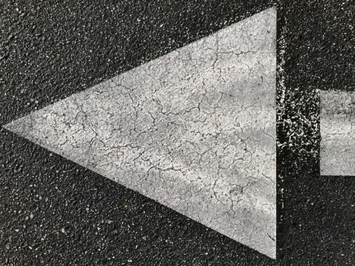 Photography: Street Photography - Starry Parking Lot Arrow