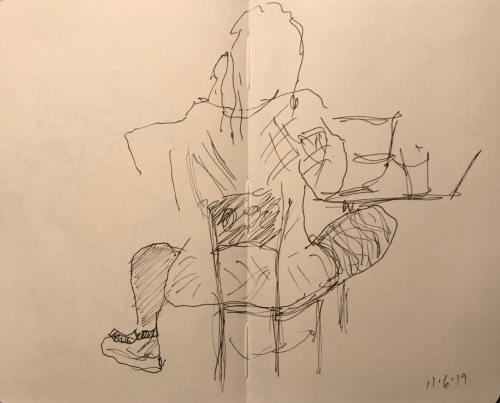 Sketch: Pen and Ink - Study Position