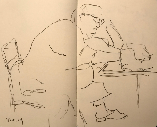 Sketch: Pen and Ink - The Thinker