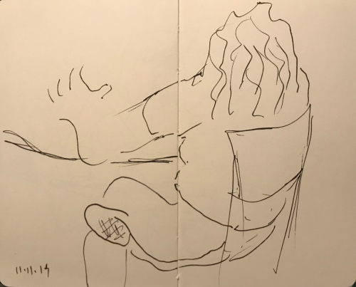 Sketch: Pen and Ink - Thinking Out Loud