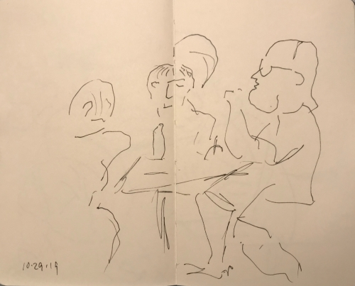 Sketch: Pen and Ink - Toastmasters Club Practice