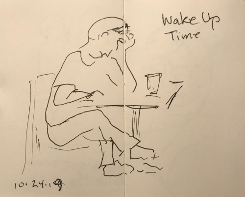 Sketch: Pen and Ink - Wake Up Time