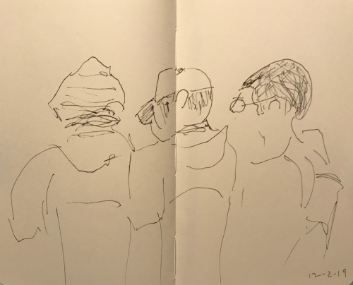 Sketch: Pen and Ink - Head Covering Choices