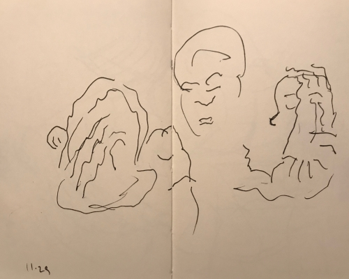 Sketch: Pen and Ink - Head Studies