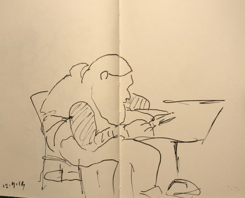 Sketch: Pen and Ink - Hunched-Over Interesting 120919