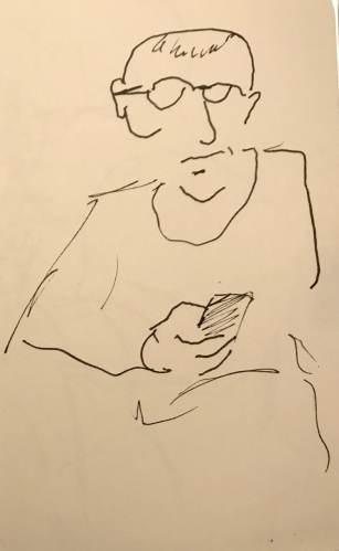 Sketch: Pen and Ink - I Can't Believe My Thumb