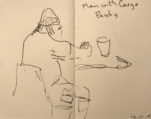 Sketch: Pen and Ink - Man with Cargo Pants