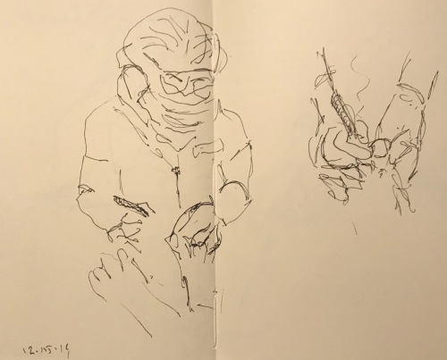 Sketch: Pen and Ink - Pedicure