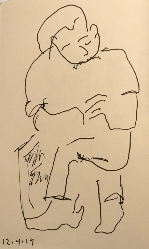 Sketch: Pen and Ink - Relaxed Person