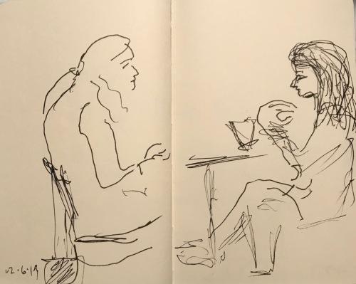 Sketch: Pen and Ink - Request for Hair Care Advice