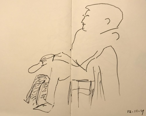 Sketch: Pen and Ink - Thinking Well of One's Self