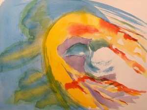 Watercolor: Abstract - Abstract From a Face - Second Pass
