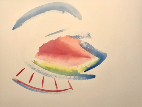 Watercolor: Abstract - Howling Wolf