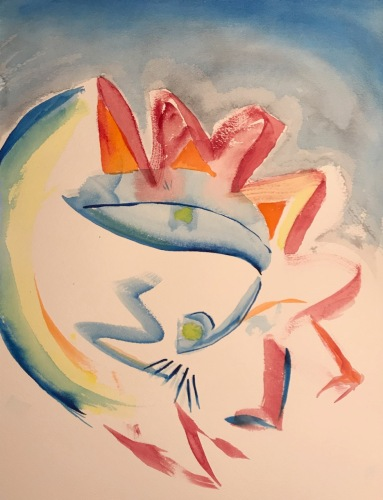 Watercolor: Abstract - Indecision Resolved