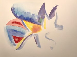 Watercolor: Abstract - It's A Dog Life - Initial Strokes