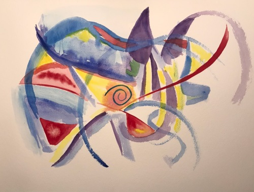 Watercolor: Abstract - It's A Dog's Life