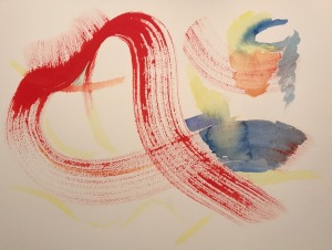 Watercolor: Abstract - Love is All Around, Early Stage