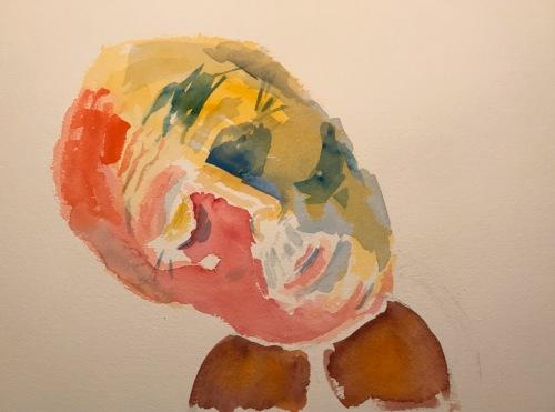 Watercolor: Abstract - Man and Violin